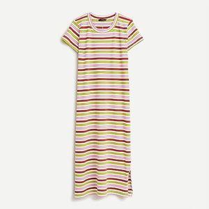 NWT J. Crew T-shirt Dress in Stripe Sz L